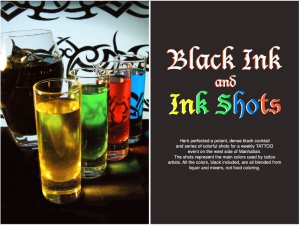 Black Ink and Ink Shots Cocktails