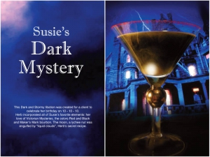 Susie's Dark Mystery Cocktail