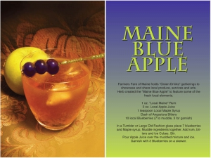 Maine Blue Apple Cocktail Recipe