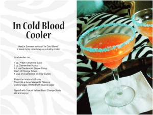 In Cold Blood Cooler Recipe