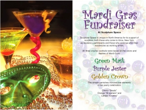 Green Mask, Purple Jester and Golden Crown Cocktails