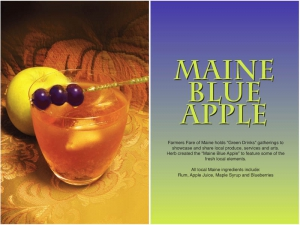 Maine Blue Apple Cocktail