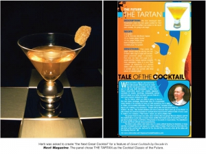 Herb's Entree Magazine Interview for The Tartan Cocktail