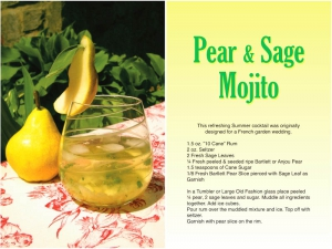 Pear and Sage Mojito Recipe