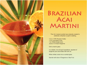 Brazilian Acai Martini Recipe