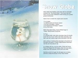 Snow Globe Cocktail Recipe