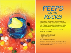Peeps on the Rocks Cocktail Recipe