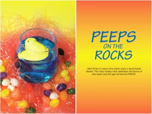 Peeps on the Rocks Cocktail