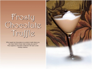 Frosty Chocolate Truffle Cocktail