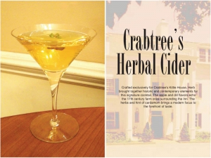 Crabtree's Herbal Cider Cocktail