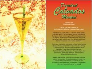 Calvados Martini
